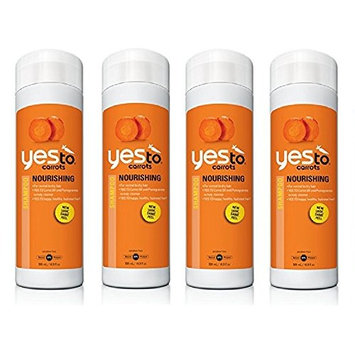 Yes To Carrots Nourishing Shampoo, 16.9 Oz (4 Pack) + FREE Scunci Black Roller Pins, 18 Pcs