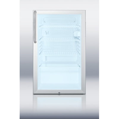 Summit SCR450L7CSSADA 4.1 Cu. Ft. Stainless Steel Undercounter Built-In Compact Refrigerator