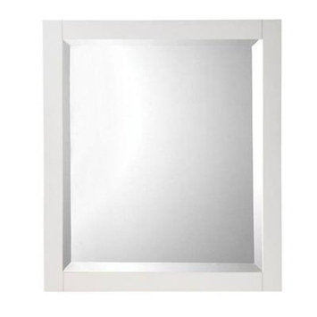 Home Decorators Collection Fraser 32 in. H x 28 in. W Framed Single Wall Mirror in White