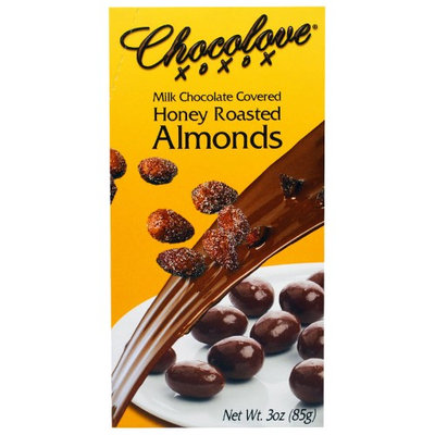 Chocolove, Milk Chocolate Covered Honey Roasted Almonds, 3 oz(pack of 6)