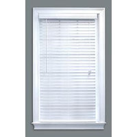 Style Selections 2-in White Faux Wood Room Darkening Plantation Blinds (Common 32-in; Actual: 31.5-in x 64-in) 75422