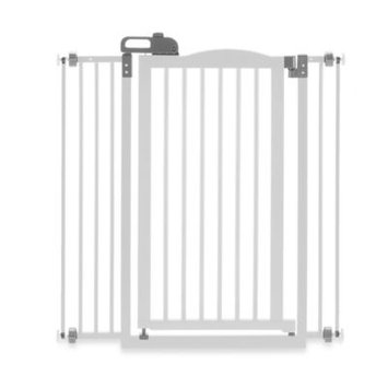 Richell Tall One Touch Pet Gate II White, Size: Regular