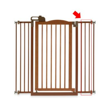 Richell Tall One Touch Pet Gate II Extension Brown