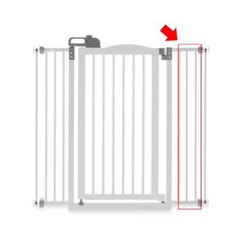 Richell Tall One Touch Pet Gate II Extension White