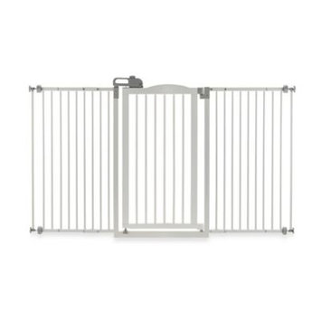 Richell Tall One Touch Pet Gate II White, Size: Wide