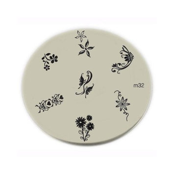 Konad Stamping Nail Art Image Plate - M32