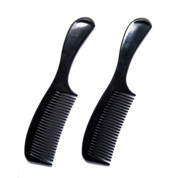Luxxii - Styling Essentials Round Handle Comb 8 inch (Pack 2, Black)