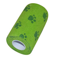 SUKRAGRAHA Dog Foot Step First Aid Tape Self Adherent Cohesive Wrap Bandages 3 inch 5 Yards Green