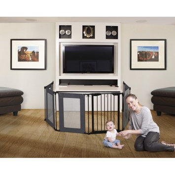 Dream Baby Dreambaby Brooklyn Converta 3-in1 Easy Close Playpen with Mesh Panels & Smart Stay-Open Feature, Black