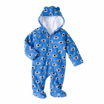 born Baby Boys' Fleece Eared Snowsuit Pram