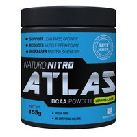 Naturo Nitro Naturo Sciences Nitro Atlas BCAA Powder, Lemon-Lime, 5.47 Oz