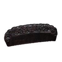 Icegrey Handmade Black Sandalwood Wooden Comb Hair Brush Anti-loss