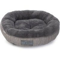 House of Paws Grey Hessian Cat Donut Bed