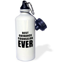 3dRose BEST GUIDANCE COUNSELOR EVER, Sports Water Bottle, 21oz
