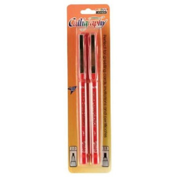 Alvin MR6000-R Calligraphy Pens Red - Pack of 2