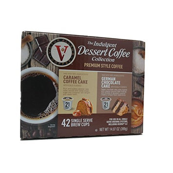 Victor Allens Dessert Coffee Caramel Cake & German Chocolate Cake (Variety Pack of 42)