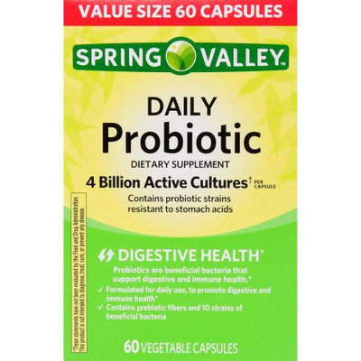 Spring Valley Daily Probiotic Dietary Supplement Capsules