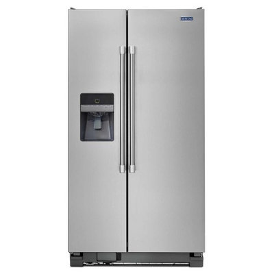 Maytag MSF21D4MDM 21.0 Cu. Ft. Stainless Steel Side-By-Side Refrigerator - Energy Star