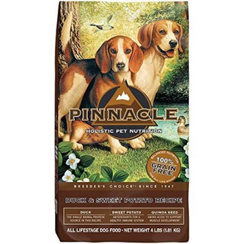 Pinnacle Grain Free All Life Stage Grain-Free Duck & Sweet Potato Recipe Dry Dog Food, 4 Lb