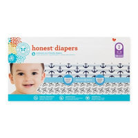 Honest Diapers Club Pack Anchors & Stripes + Skulls Size 2 (76 Count), Anchors/Stripes, Skulls