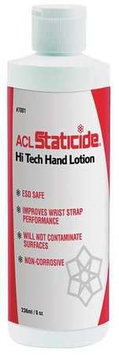 ACL Staticide Hand Lotion (Unscented, 8 oz, Bottle). Model: 7001FF