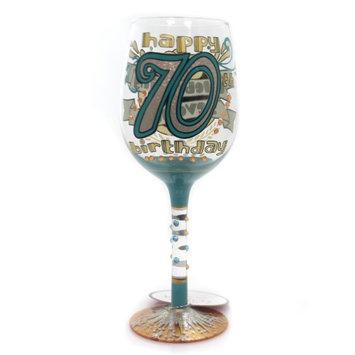 Enesco Lolita Glassware 70th Birthday Wine Glass #6000740