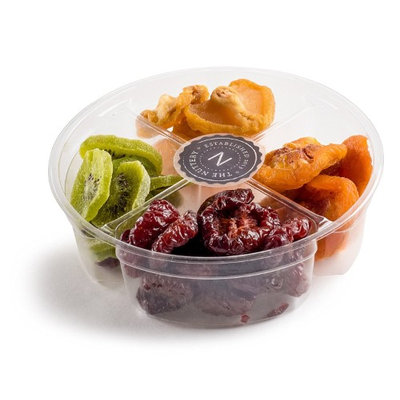 The Nuttery Ny The Nuttery Dried Fruit Mix Gift Set- Healthy Snack 4 Sectional Gift Basket- Gourmet Dried Fruit Gift Tray