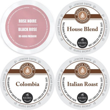 Faro Roasting Houses Barista Prima K-Cup Variety Pack- Barista Prima's Colombia, Italian Roast, House Blend and Faro Rose Noire Medium Roast - 96 ct