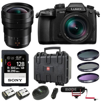 Panasonic LUMIX GH5 Lecia 12-60mm Kit + H-E08018 8-18mm F2.8-4.0 Bundle