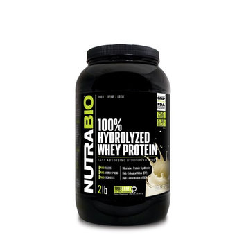 Nutra Bio NutraBio Hydrolyzed Whey Protein Powder, Unflavored, 2 Lb