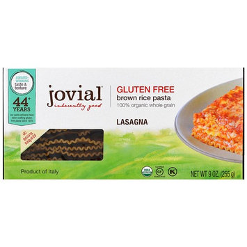 Jovial, Organic Brown Rice Pasta, Lasagna, 9 oz (255 g)(Pack of 3)