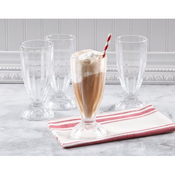 Gibson Oveseas Inc. Gibson Home Spencer 13-Ounce Milk Shake Glass Set, Set of 4