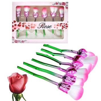 Makeup Brushes Set, Flower Makeup Brushes Unique Professional Kabuki Rose Brushes Foundation Blending Contour Cream Cosmetic Kit For foundation, loose powder, blush, shade