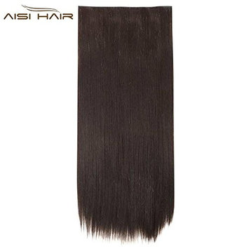 Natural Long Silky Straight Clip in Hair Extensions Thick Real For Women Beauty