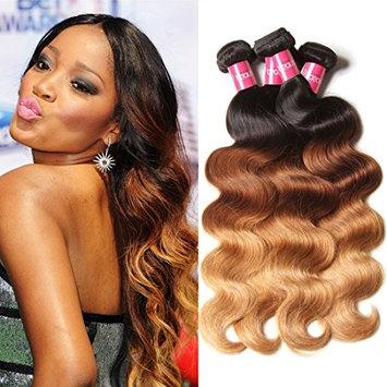 Longqi Beauty Brazilian Ombre Hair 3 Bundles Body Wave Ombre Human Hair Extension Brazilian Ombre Body Wave