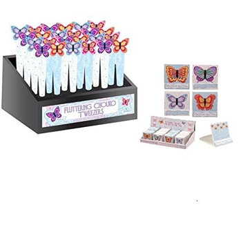 Chouko Fluttering Butterfly Shaped Tweezers & Nail Match Book (2pc)
