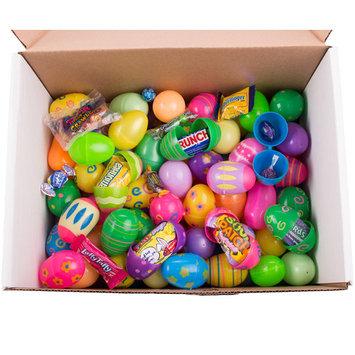 Bulk Filled Egg Hunt Plastic Easter Eggs, Assort Patterns & Colors, Candy & Toys