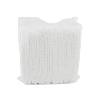 Disposable Lightweight & Breathable Hair Net Cap for Tanning, Airbrush and Skin care Treatment Spa Salon Hotel Use - Pack of 100 - White