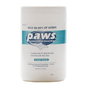 Paws Antimicrobial Disinfectant Hand Wipe 160/tub by Hitachi