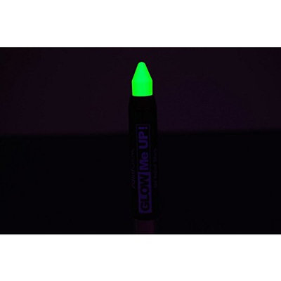 PaintGlow Neon Green UV Blacklight Reactive Make Up Body Paint Stick