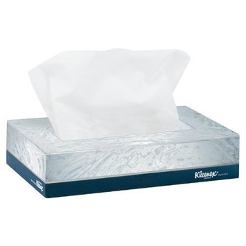 KCC21195 - Kleenex White Facial Tissue, 2-ply