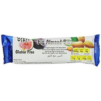 Oskri Fig Almond Bar, 1.9-Ounce (Pack of 20)