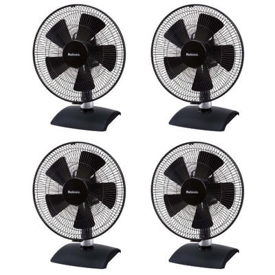 4) Holmes HDF12235-BM Oscillating 5-Speed Table Fans 12-Inch for Home or Office