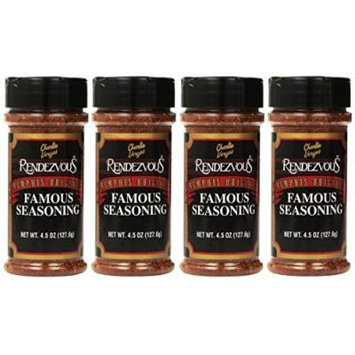 Charlie Vergos Rendezvous Famous Memphis Barbecue Dry Rub Seasoning (4.5 oz)4-Pack