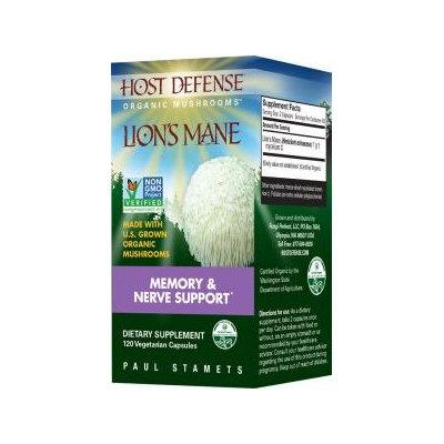 Fungi Perfecti / Host Defense Fungi Perfecti Host Defense Lion's Mane 120 Vegetarian Capsules