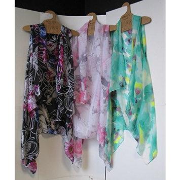 DD Sheer Designer Vest - 3 Floral Styles(pack Of 12)