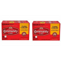 Community Coffee New Orleans Blend Coffee & Chicory Single-Serve K-Cups vXRbpK, 12 Count, 2Pack (12 Count)