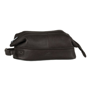 Mancini Leather Classic Toiletry Kit with Organizer