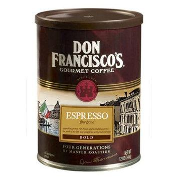 F. Gavi A & Sons, Inc. Don Francisco's Espresso, Dark Roast, Ground Coffee, 12 oz. (Pack of 6)