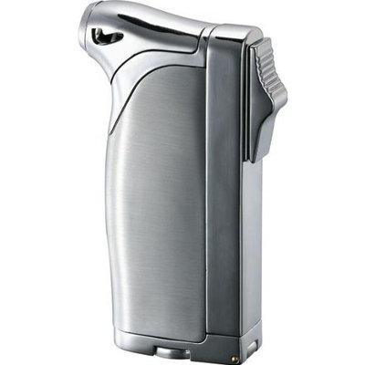 Visol Dual Satin and Polished Silver Cigar, Cigarette & Pipe Lighter